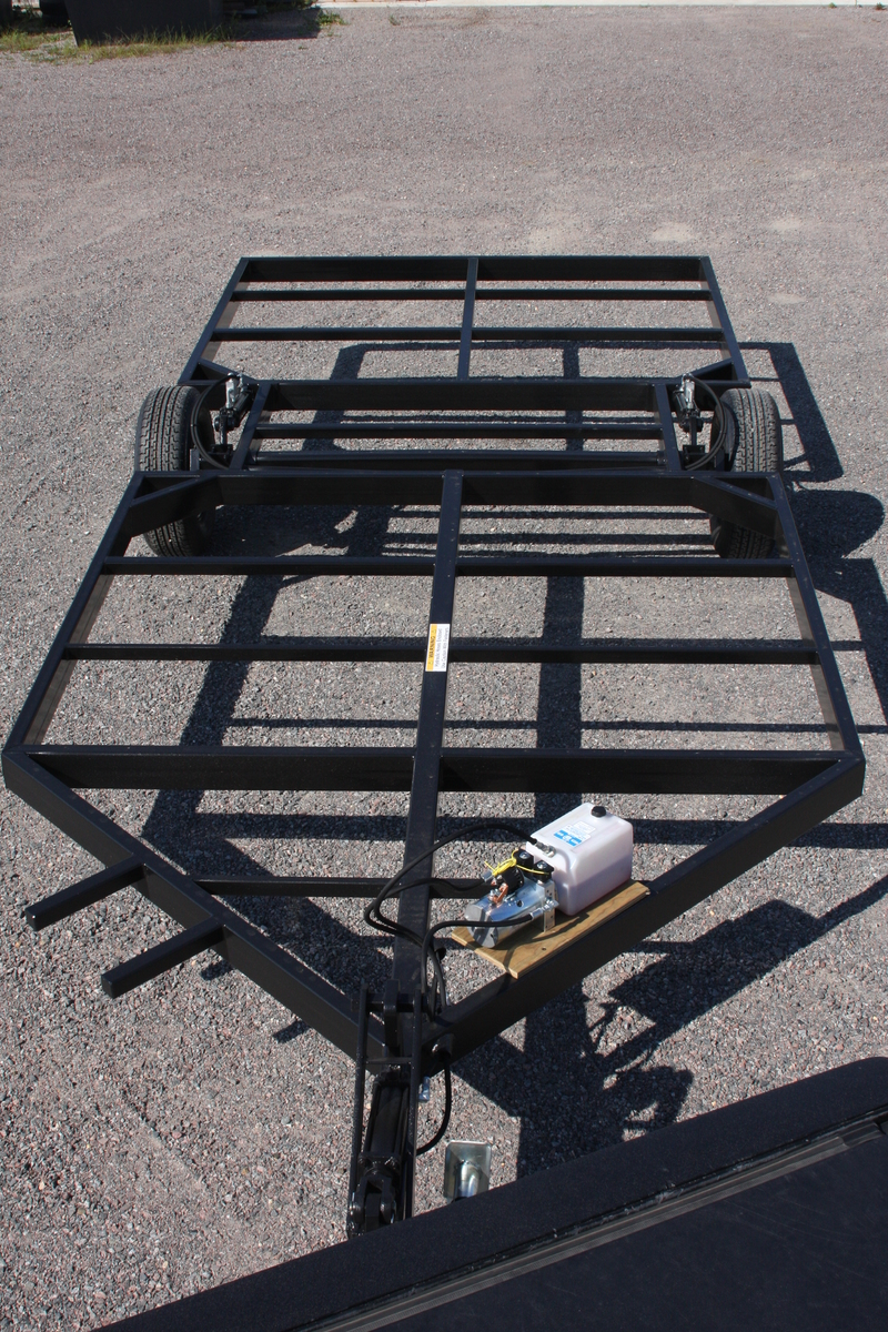 Berkon outdoors 8 39 2 x 16 39 4 39 v hd hydraulic trailer for Fish house frames manufacturers